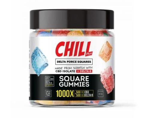 Chill Plus Delta 8 Squares Gummies